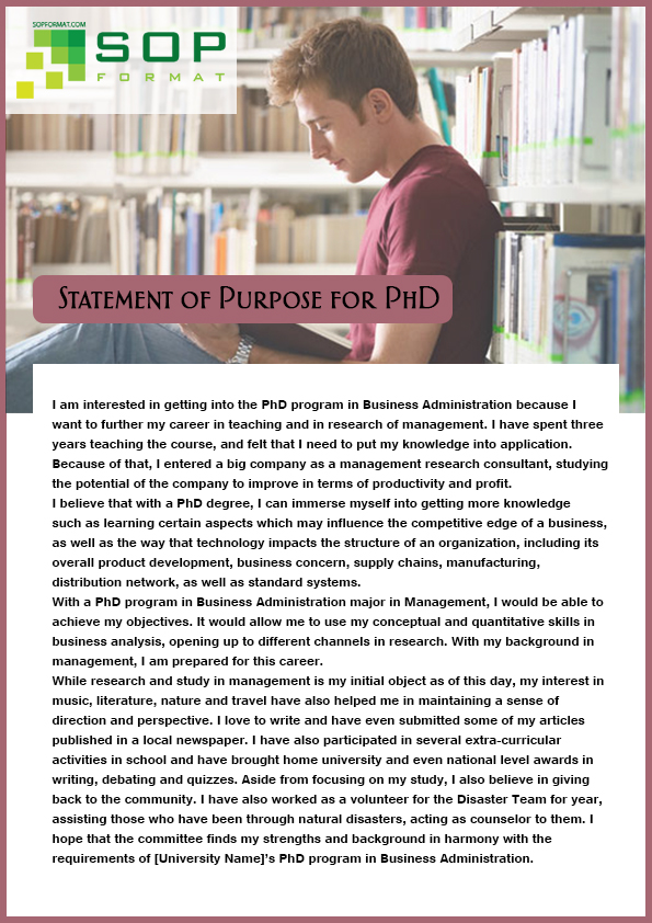 check our statement of purpose format for phd
